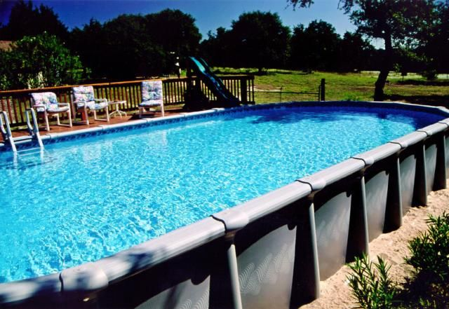 Image detail for large oval above ground pool swim - Largest above ground swimming pool ...