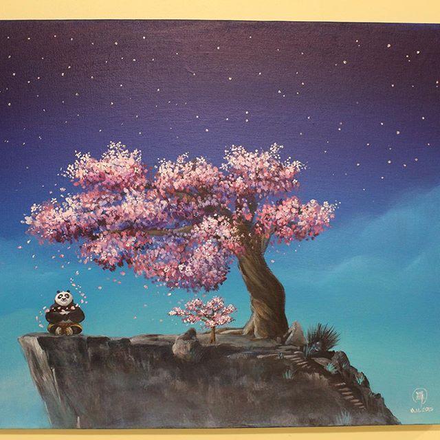 My Entry To Kungfu Panda 3 Art Contest Panda Art Panda Painting Panda Tree