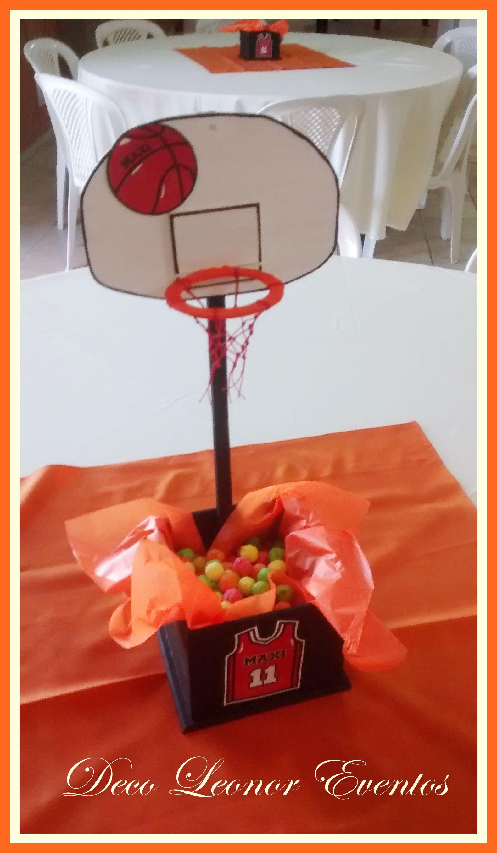 Centro de mesa contenedor basquet centros de mesa - Decoracion party ...