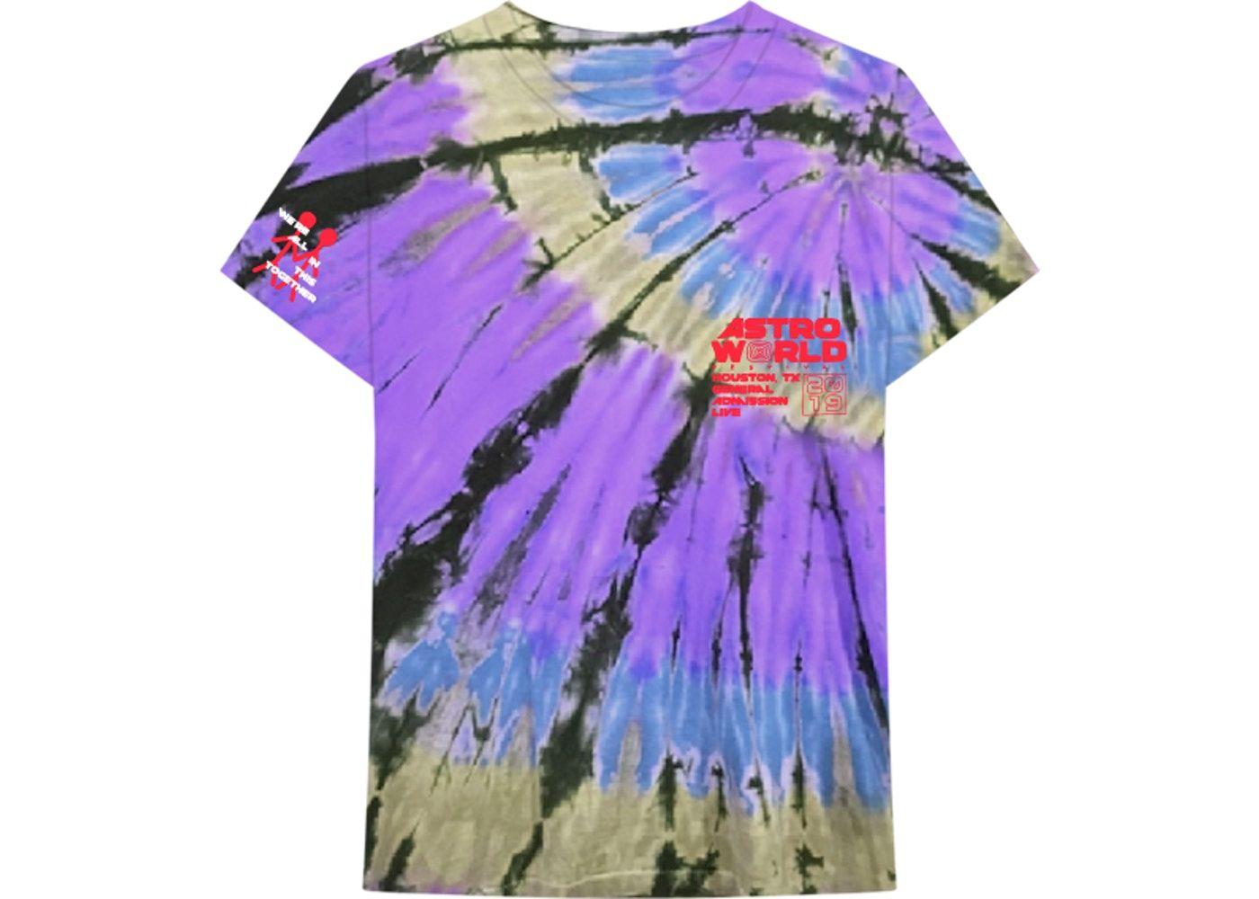 Travis Scott Official Souvenir Tee Tie Dye Travis Scott Tie Dye Travis Scott Merch [ 1000 x 1400 Pixel ]