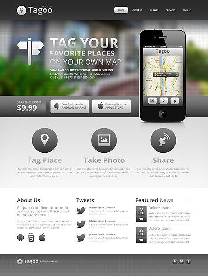 Software Company Website Template Pinterest Website Themes - Web development company website template