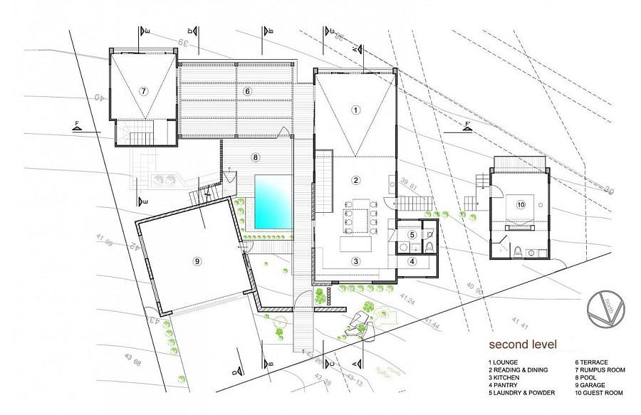 Pavilion House Down Under Charms With Open Courtyard And Lovely Views Contemporary House Floor Plans How To Plan