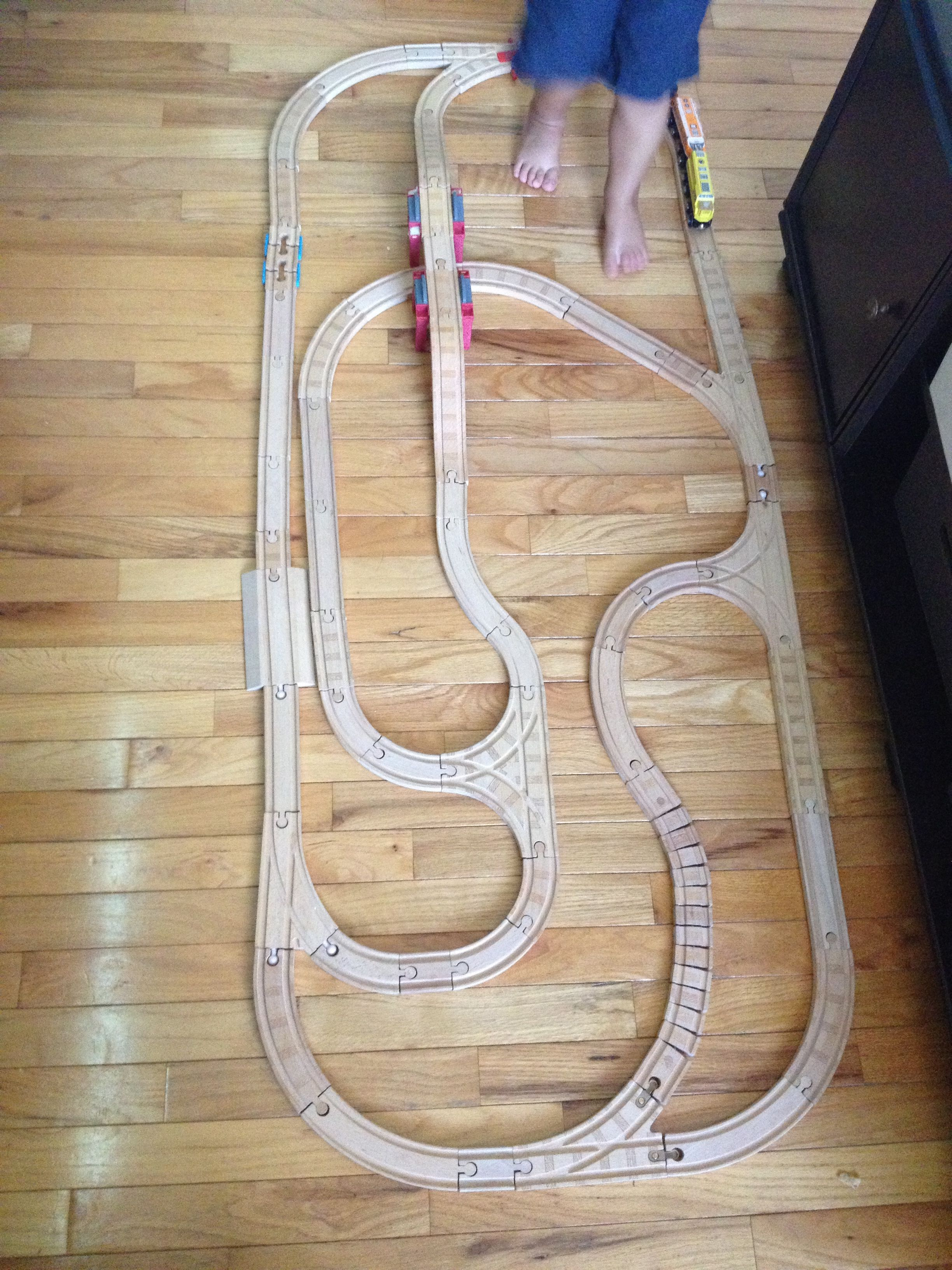 Wooden Train Track Set Up Toy Train Track Designs Lego Trains