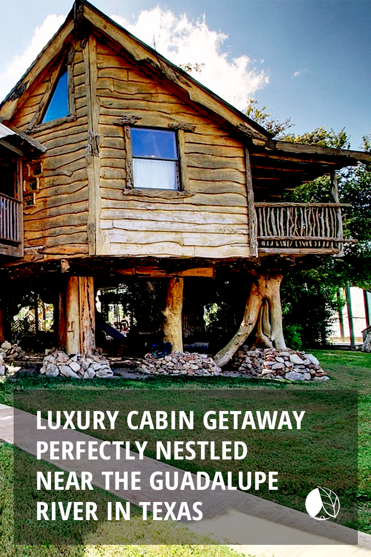 Luxury Cabin Getaway Perfectly Nestled Near The Guadalupe River In New Braunfels Texas Cabins In Texas Getaway Cabins Cabin Rentals In Texas