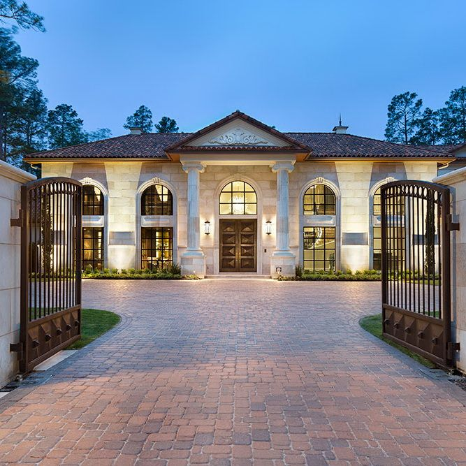 Great Gatsby Mediterranean Italian Luxury Home Villa: Jauregui Architects