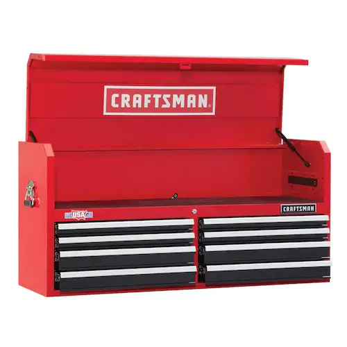 Craftsman 2000 Series 51 5 In W X 24 5 In H 8 Drawer Steel Tool Chest Red Lowes Com Craftsman Tools Chest Tool Chest Craftsman Tools