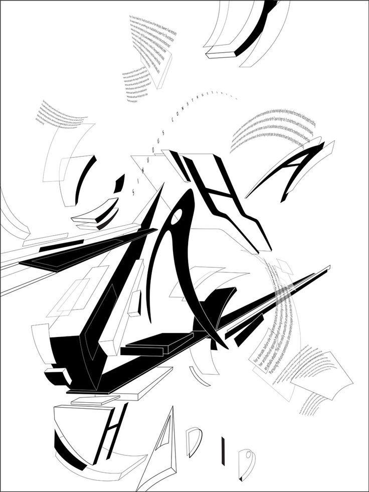 Zaha Hadid Hand Drawings