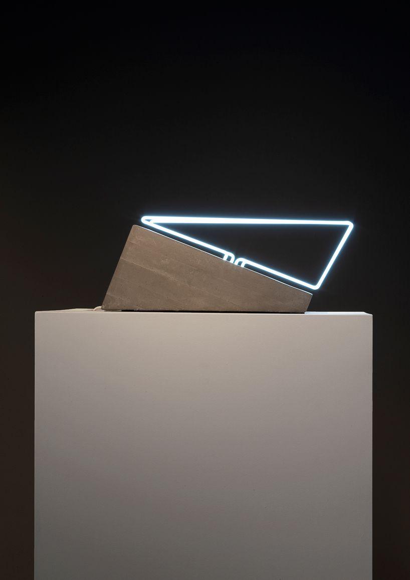 morgane tschiember open space art light exhibition carpenters gallery workshop designboom
