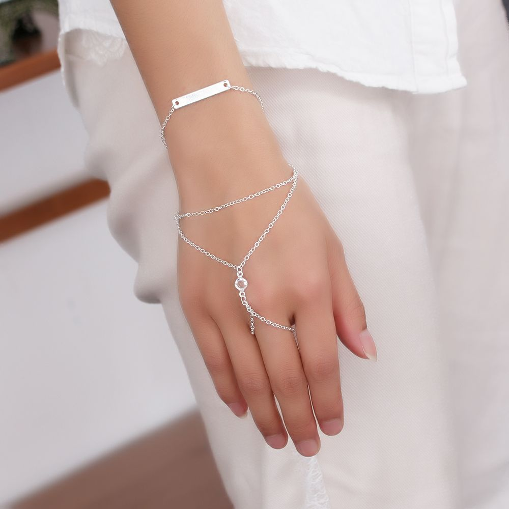 piece alloy slave hand finger bracelets women fashion charm