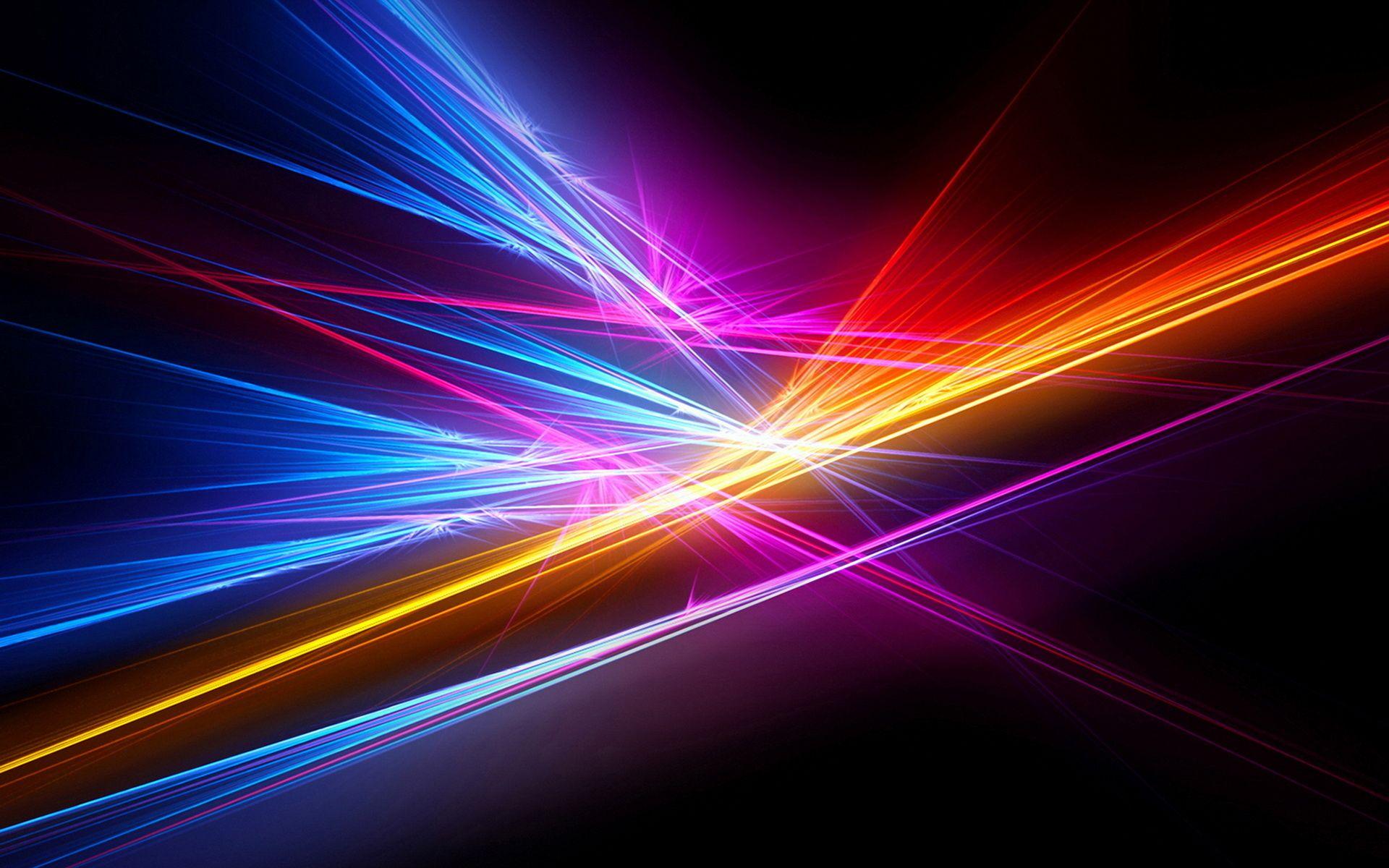 Обои неоновый, Abstract, rainbow, lights, colors, background. Абстракции foto 15