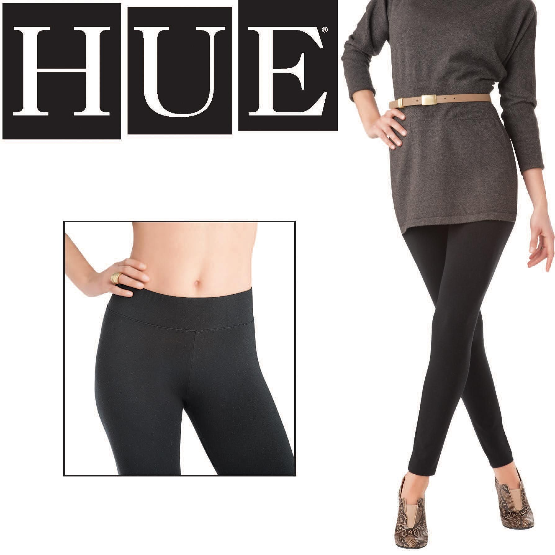 f5d971a541c08f Hue Women's Ultra Leggings with Wide Waistband at Amazon Women's Clothing  store: Leggings Pants