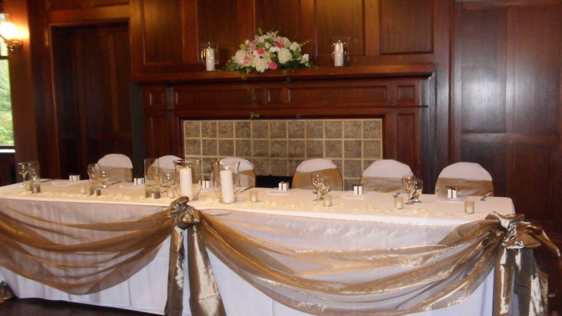 Head Table Décor ~ Swaged | Wedding decor elegant, Head table ...