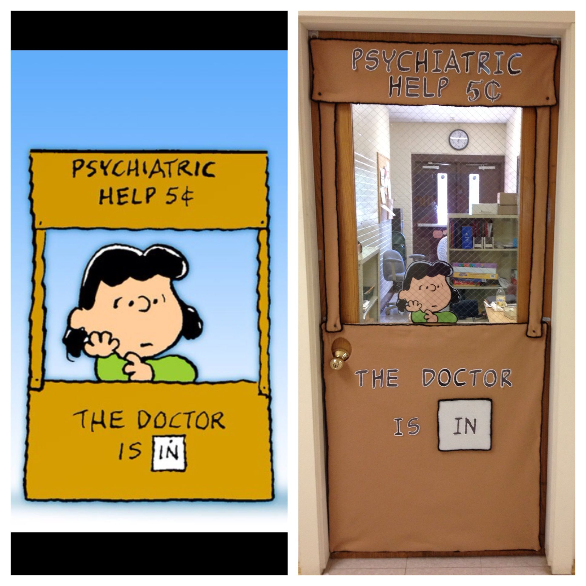 A Fun Project That I Made For My Friends Office Door Shes A