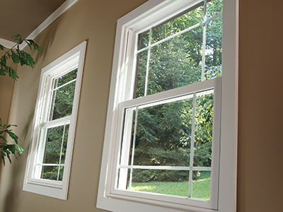 Energy Efficient Pella 350 Series Vinyl Double Hung Windows Convey