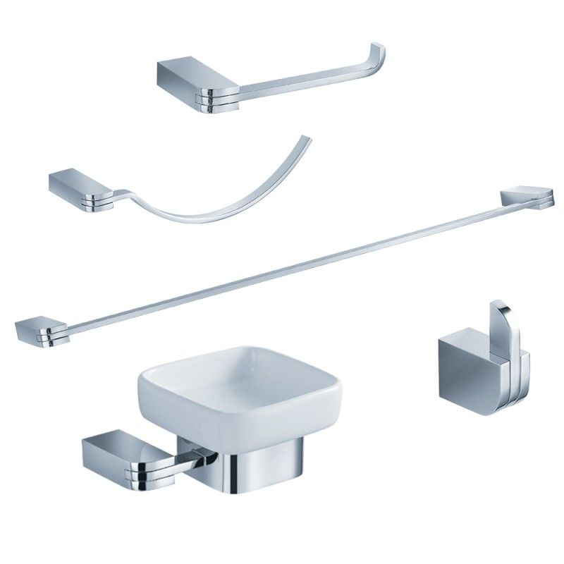 Chrome 5 Pc Bathroom Accessory Set Solido Https Www Studio9furniture