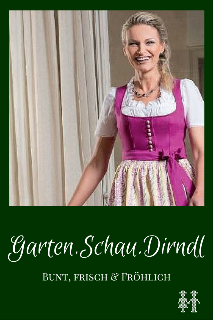 Das Garten.Schau.Dirndl wurde extra für die Landesgartenschau in Bad Ischl kreiert und hat wunderschöne handbemalte Keramikknopfe.