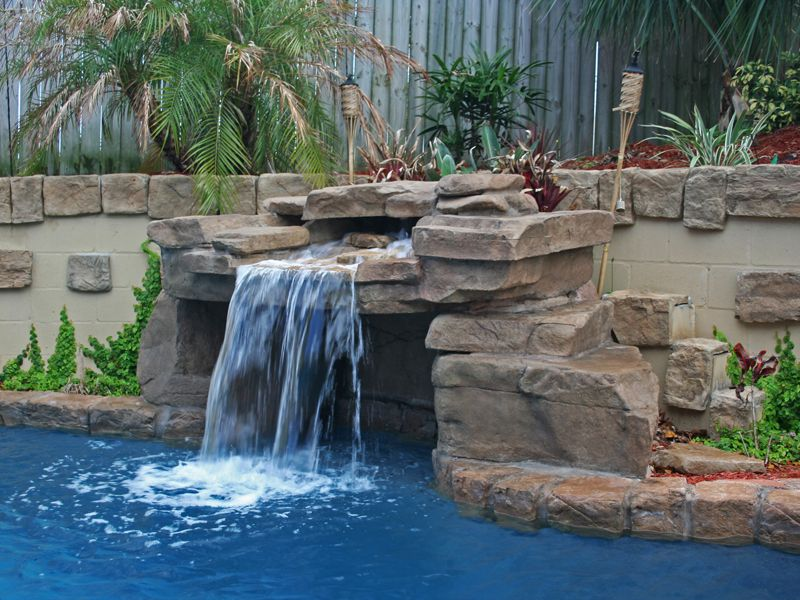 Structural Grottos Caves Gallery Ricorock Inc Backyard Pool Designs Pool Waterfall Fiberglass Pools