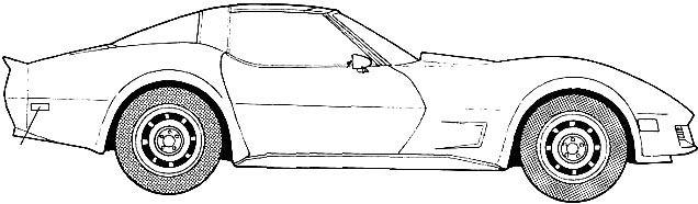 Chevrolet Corvette 1982 Coloring Page
