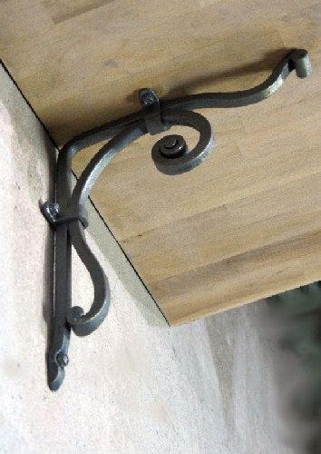 Metal Iron Hand Forged Scroll Shelf Bracket Corbel Steel Shelf Bracket Support Metal Shelf Brackets Shelf