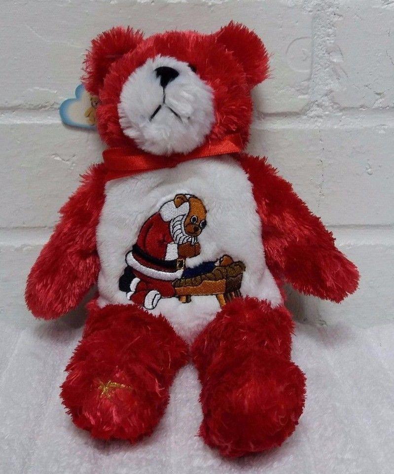 The Original Holy Bears Kneeling Santa Bear Stuffed Animal Plush A29 Theoriginalholybears Bear Stuffed Animal Kneeling Santa Animals