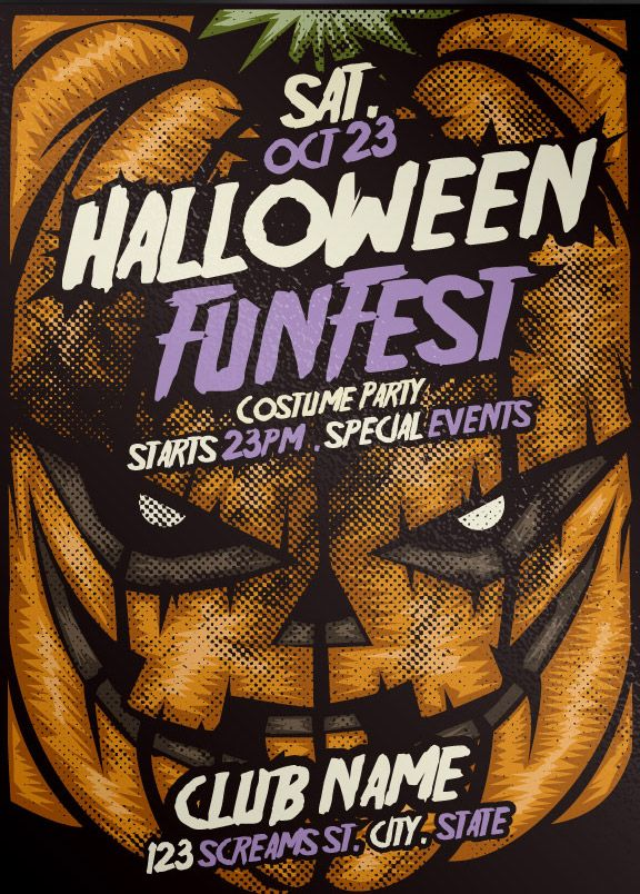 Free Pumpkin Halloween Psd Flyer Template Httpfreepsdflyer