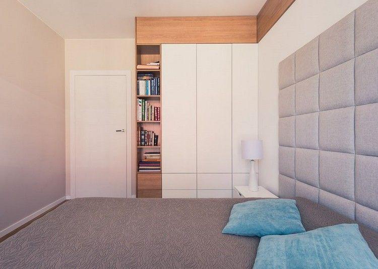 wohnungseinrichtung ideen schlafzimmer einbauschrank weiss matt holz regale einrichtung. Black Bedroom Furniture Sets. Home Design Ideas