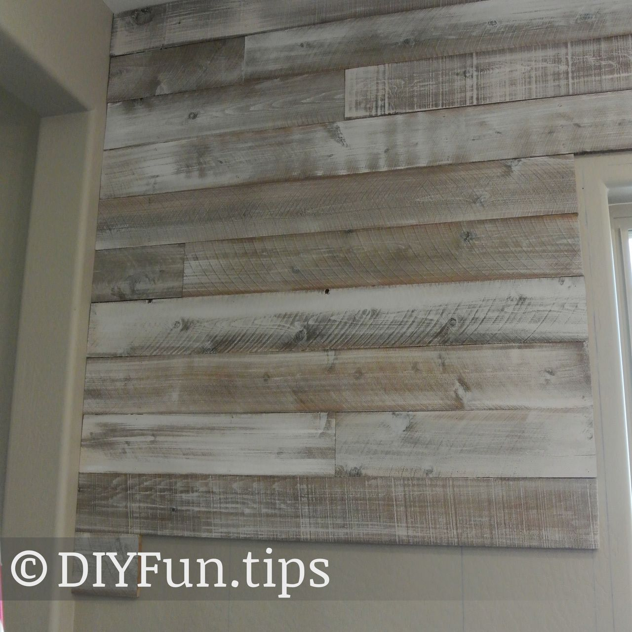 White Washed Wood Wall Made From Cedar Fence Boards: Do It Different. Better. Cheaper.