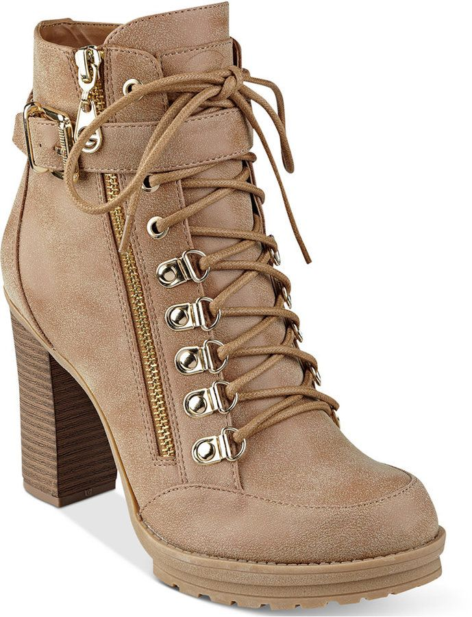 461e0d63e4361 G by GUESS Grazzy Lace-Up Booties