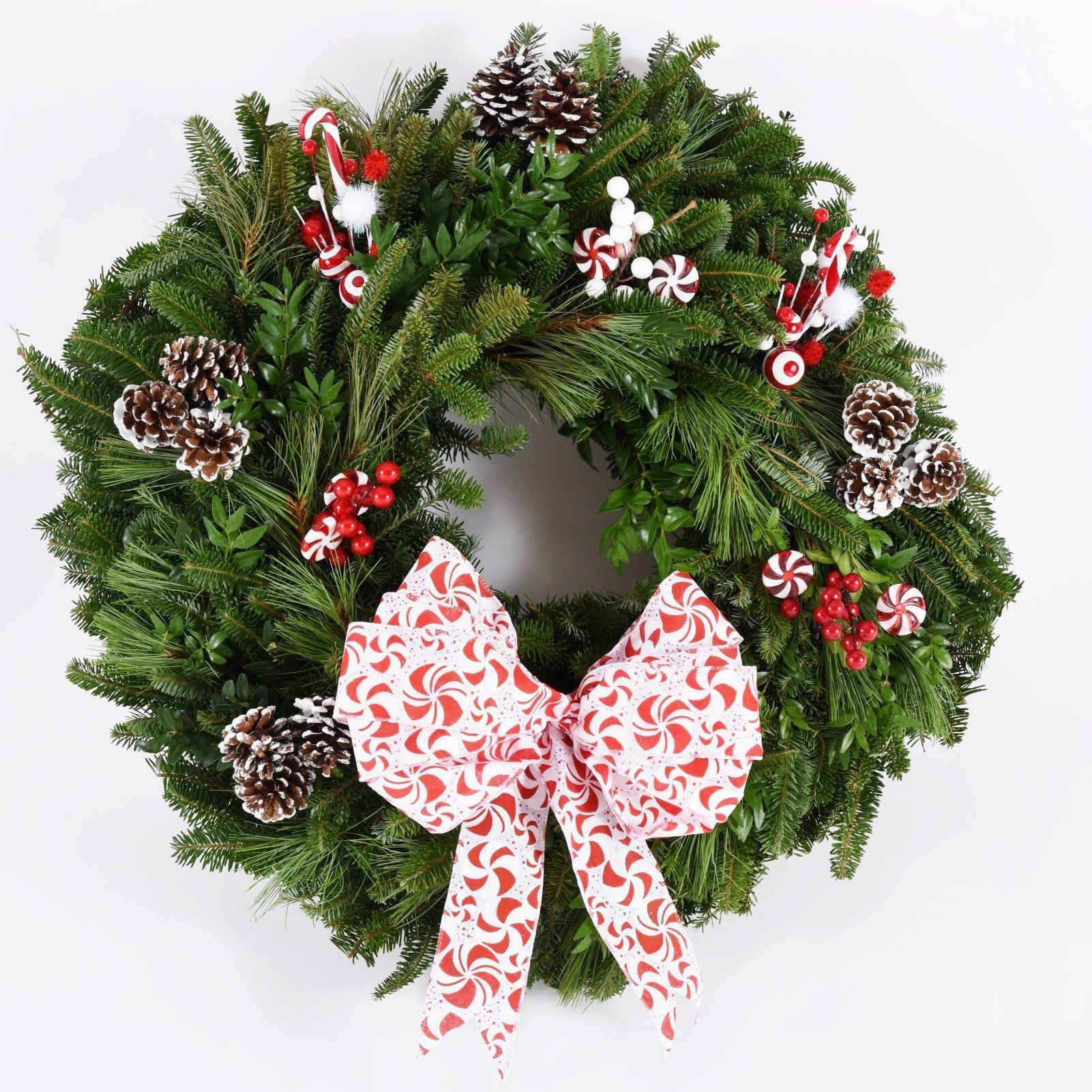 Holiday Peppermint & Candy Canes Wreath Kit Wreath