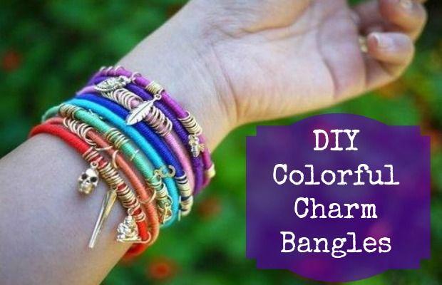 DIY Colorful Charm Bangles – Chelsea Crockett