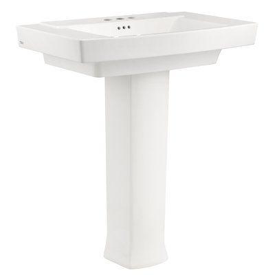 American Standard Townsend 35 Full Pedestal Bathroom Sink With