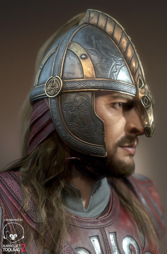 Eomer - realtime character, Georgian Avasilcutei on ArtStation at https://www.artstation.com/artwork/AQ8GX