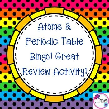 Atoms \ Periodic Table Bingo Early finishers, Group activities and - new periodic table abbreviation lead