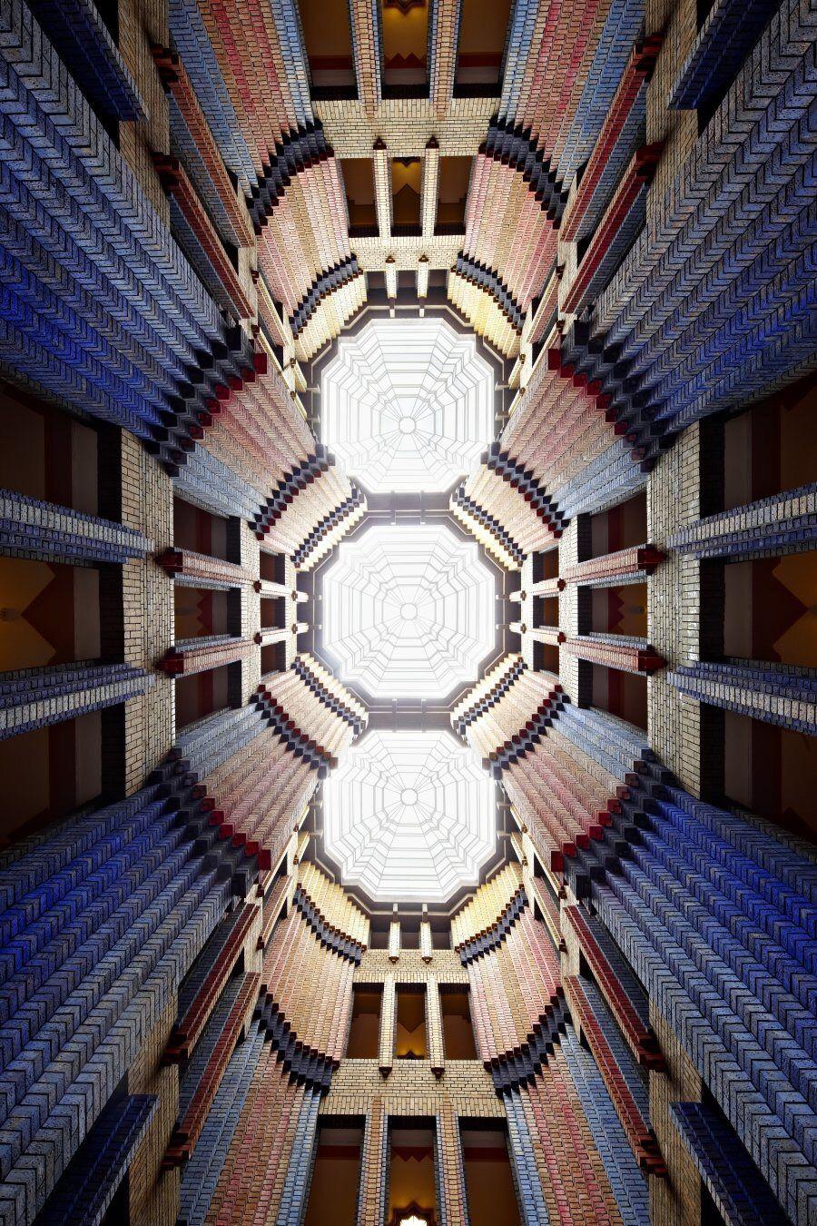 "Peter Behrens, Dome Hall of ""Farbwerke Hoechst"", 1921-24. Frankfurt. Via Industriepark Hoechst."
