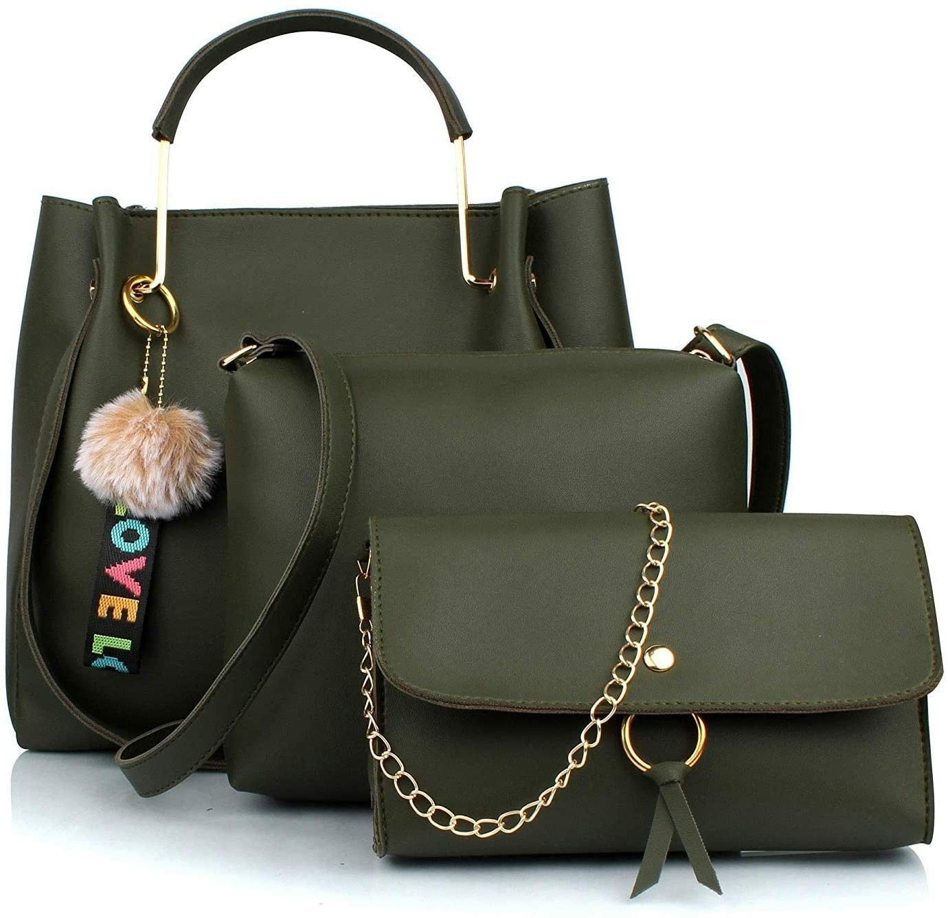Photo of Rang Resha Women's Stylish Handbags Combo (3LR-bib-Green-Tie)