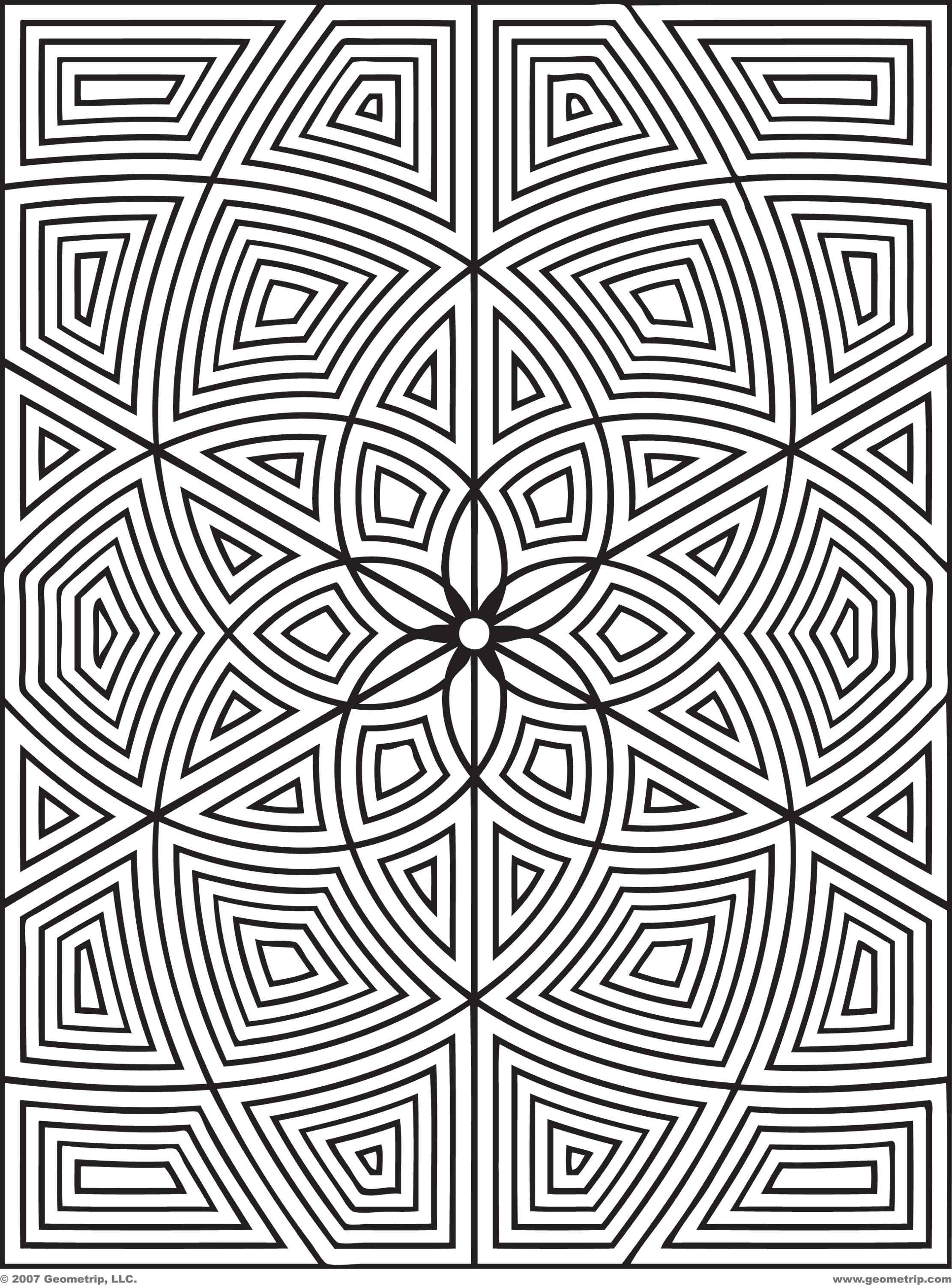 Free Geometric Design Coloring Pages Images Crazy Gallery Geometry New Geometric Coloring Pages Pattern Coloring Pages Mandala Coloring Pages
