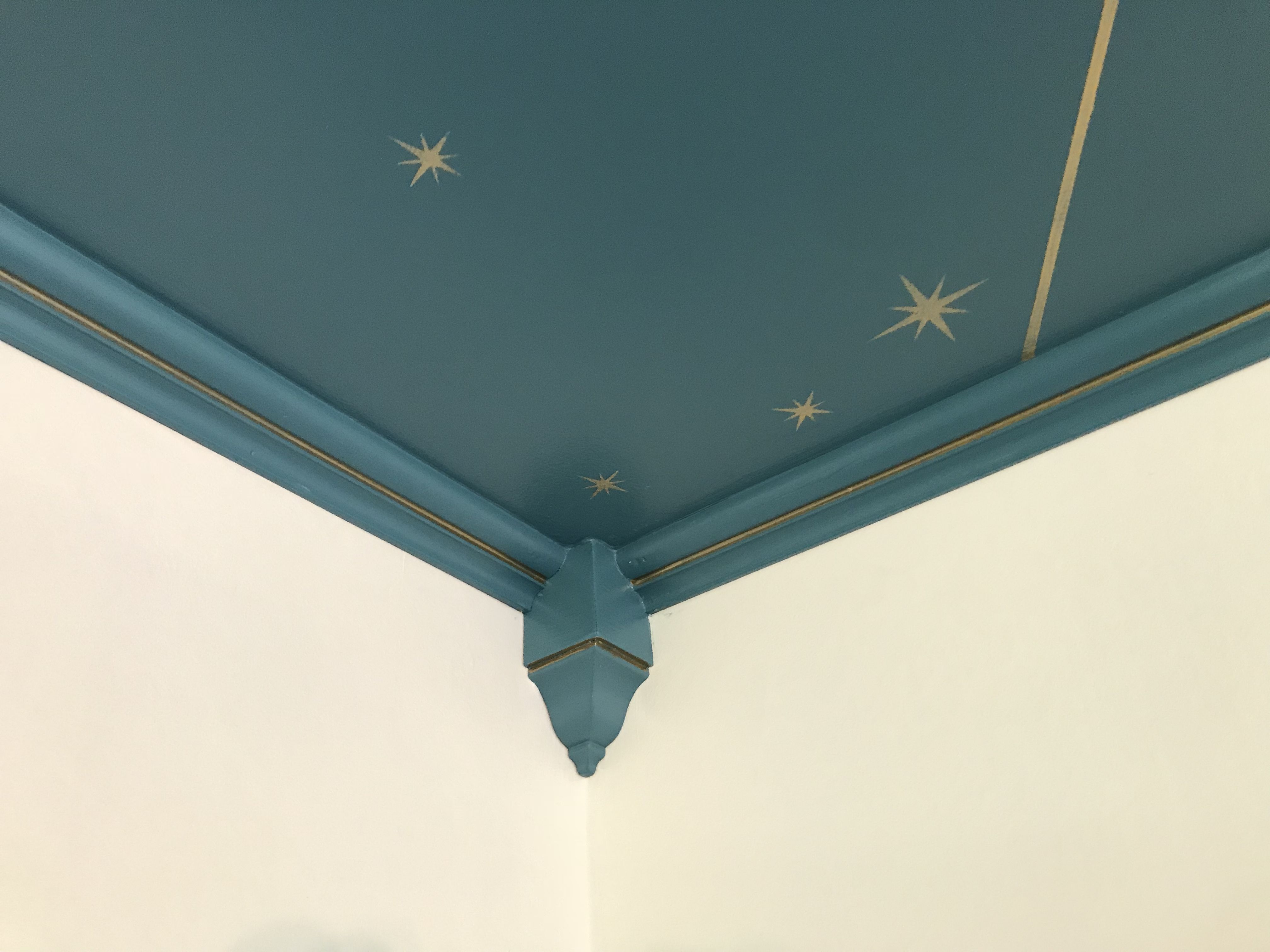 Ceiling Stars Gold Crown Molding Star Ceiling Gold Office
