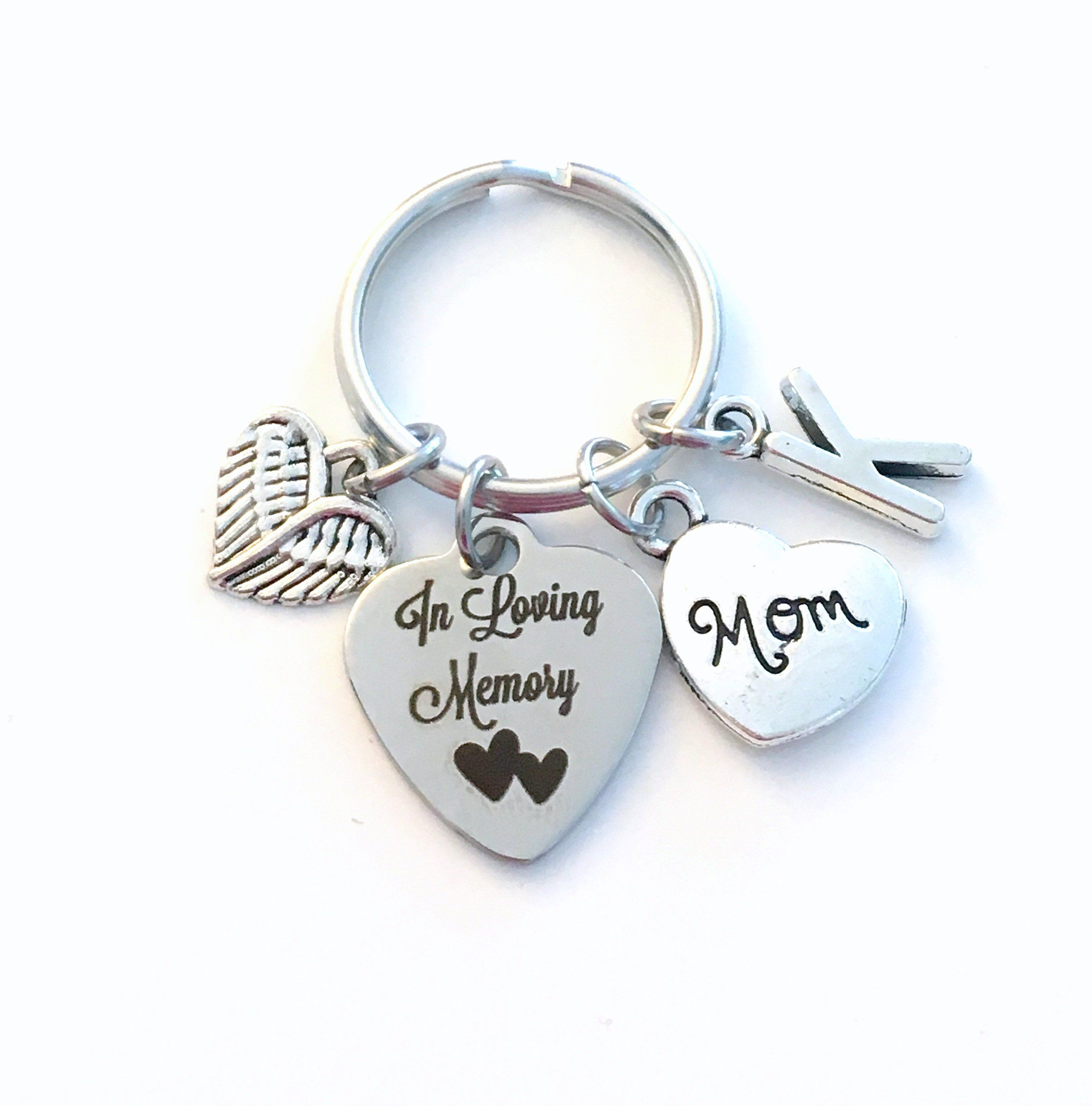 3e5c014f20 Loss of Mother Keychain, In Loving Memory Key Chain, Sympathy Gift for  Daughter Son Mom Dad Keyring, Brother Sister Wife Husband, Angel Wing by ...
