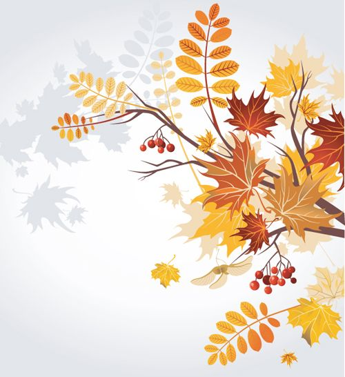 set of leaf fall vector backgrounds 04 j wedding pinterest