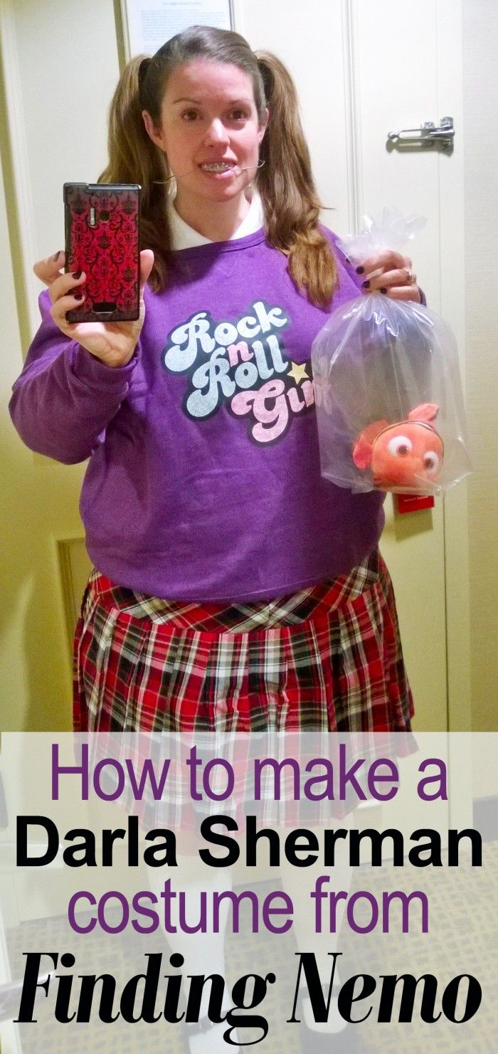 How to make a darla costume from finding nemo for Halloween #characterdayspiritweek