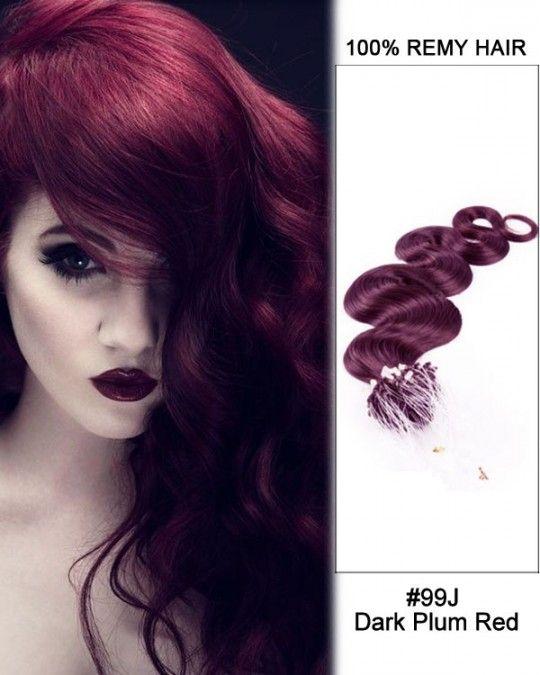 Wholesale 99j Dark Plum Red18 24 Body Wave100 Remy Hair Human