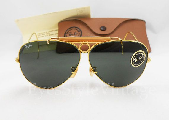 7b7aa48aa4 B L RayBan New Old Stock Aviators Bullet Hole by EyesStyleVintage