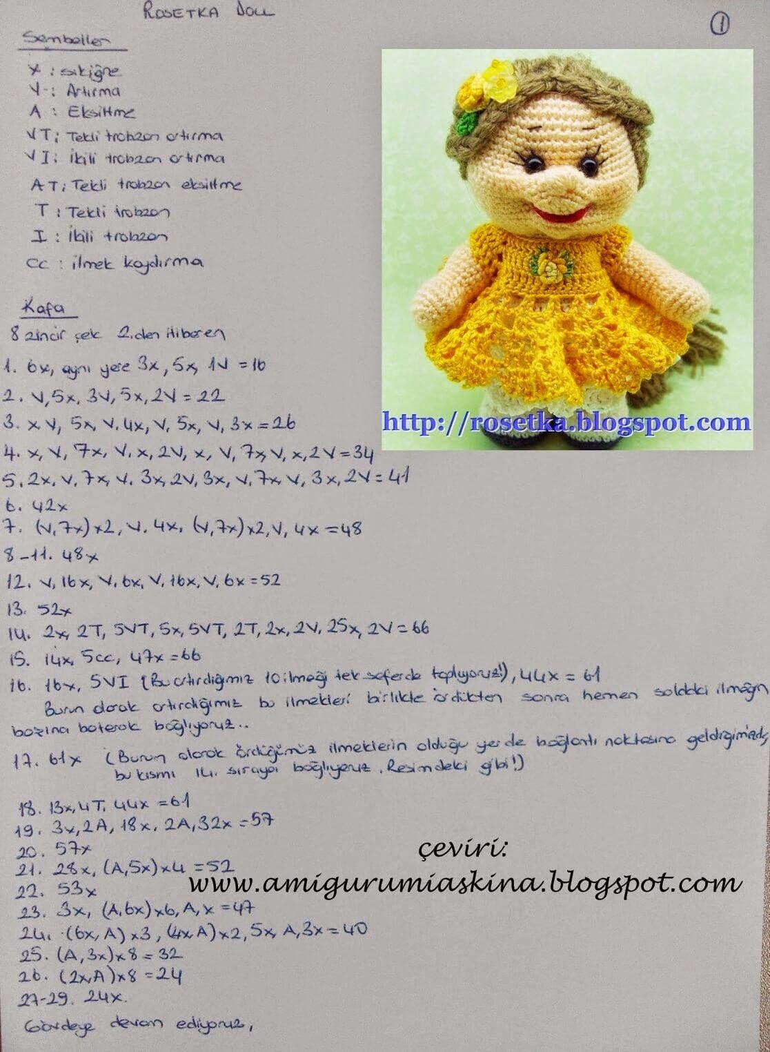 Amigurumi Askina Doll Pattern : Amigurumi A?k?na: Amigurumi Bebek Yap?l???- Amigurumi Free ...