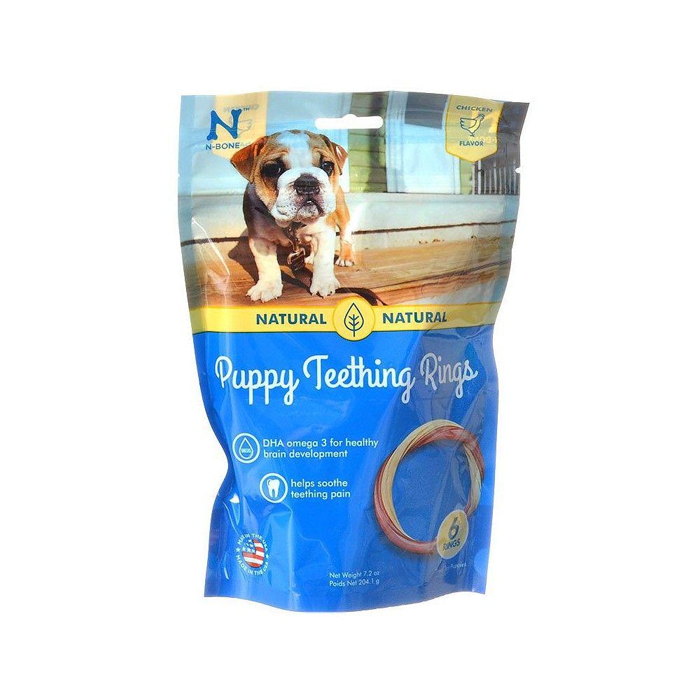 N Bone Puppy Teething Ring Chicken Flavor 6 Count Puppy