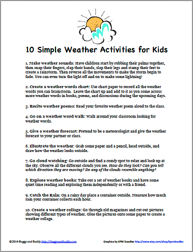 image regarding Printable Weather Reports referred to as 10 Easy Climate Actions for Children that Need to have Small or