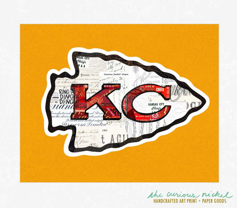 Kansas City Chiefs Art Print - Collage Illustration Art Print - Home ...