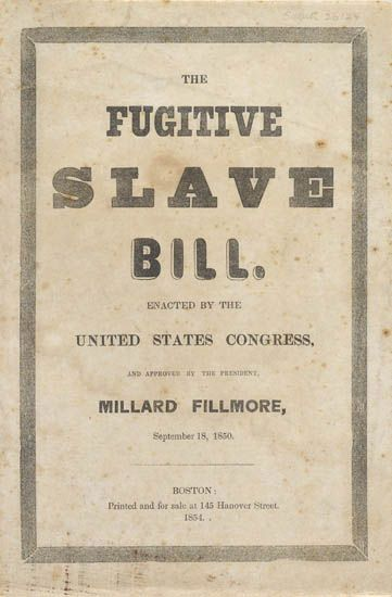essays fugitive slave law American history essays: the significance and history of civil the significance and history of civil disobedience used against the fugitive slave act.
