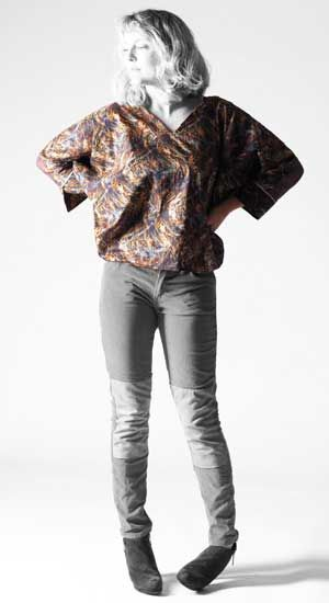 Batwing Top With Split Cuff Free Sewing Pattern Sewing Patterns