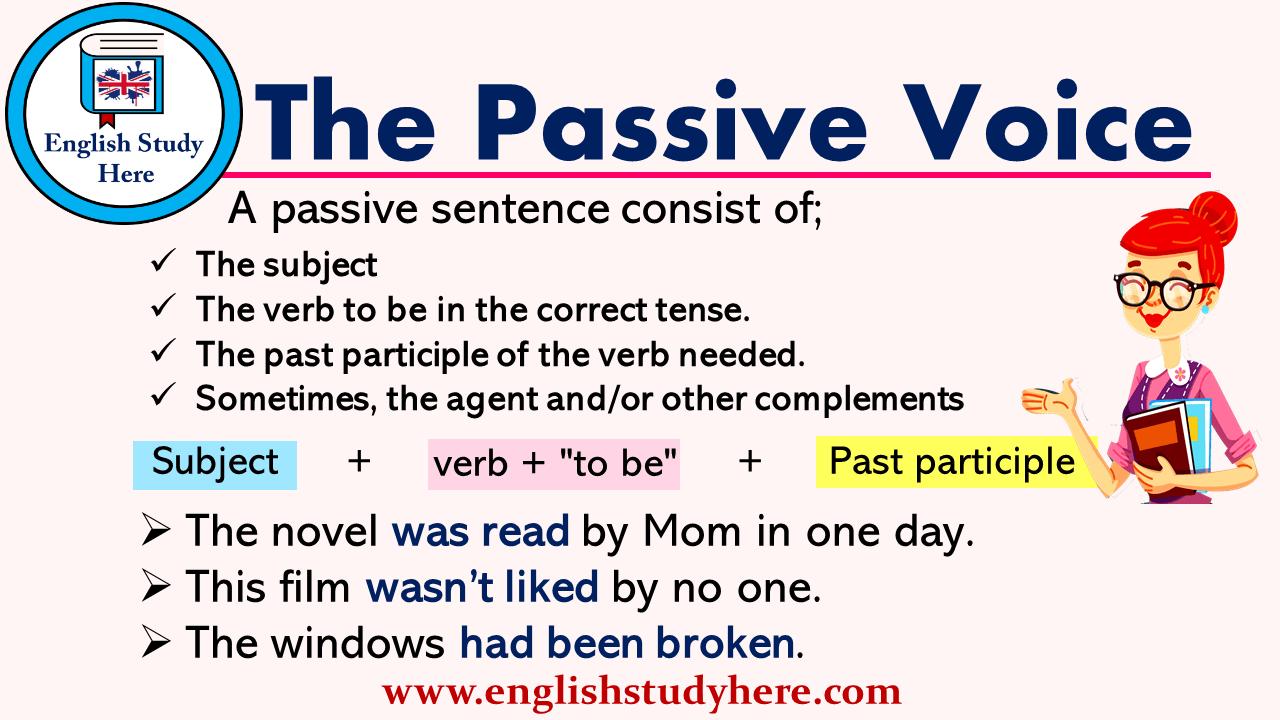 Https Englishstudyhere Com Active Passive Voice The Passive Voice Active And Passive Voice English Study The Voice [ 720 x 1280 Pixel ]