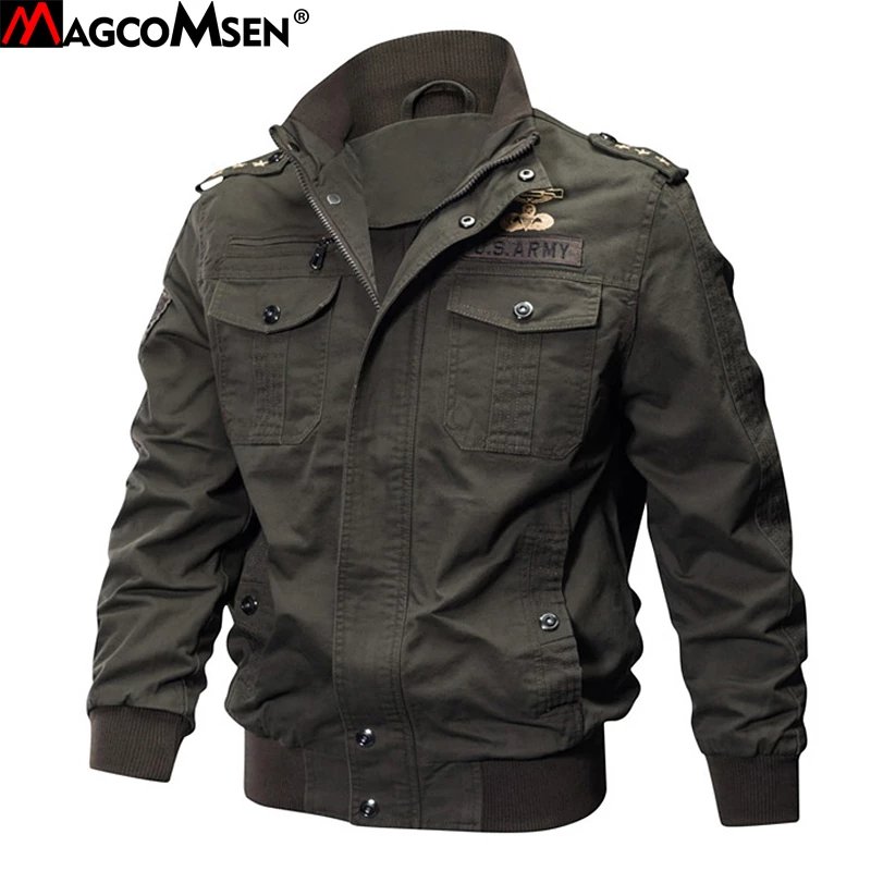 Brand Men'S Military Bomber Jacket Army Style